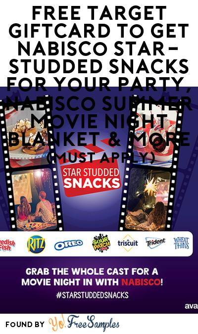 FREE Target Giftcard To Get Nabisco Star-Studded Snacks For Your Party, Nabisco Summer Movie Night Blanket & More (Must Apply)