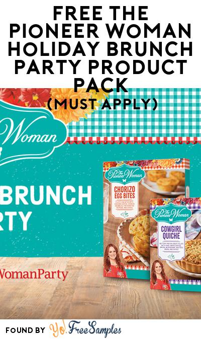 FREE The Pioneer Woman Holiday Brunch Party Product Pack (Must Apply)