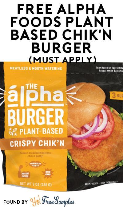 FREE Alpha Foods Plant Based Chik'n Burger At Social Nature (Must Apply)