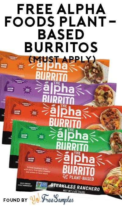 FREE Alpha Foods Plant-Based Burritos At Social Nature (Must Apply)