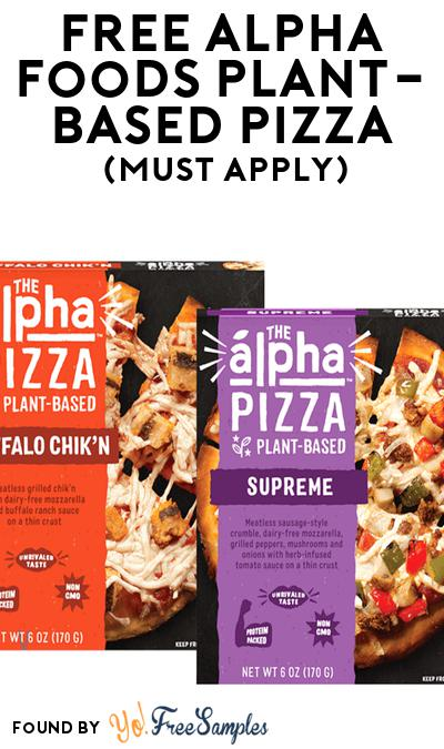FREE Alpha Foods Plant-Based Pizza At Social Nature (Must Apply)
