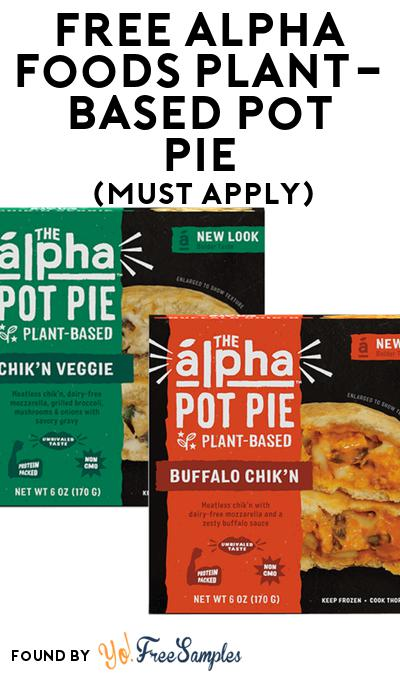 FREE Alpha Foods Plant-Based Pot Pie At Social Nature (Must Apply)