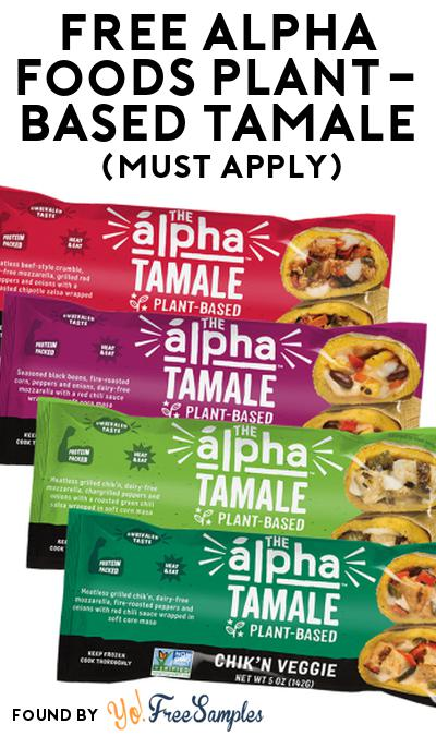 FREE Alpha Foods Plant-Based Tamale At Social Nature (Must Apply)