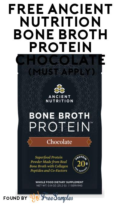 FREE Ancient Nutrition Bone Broth Protein Chocolate At Social Nature (Must Apply)