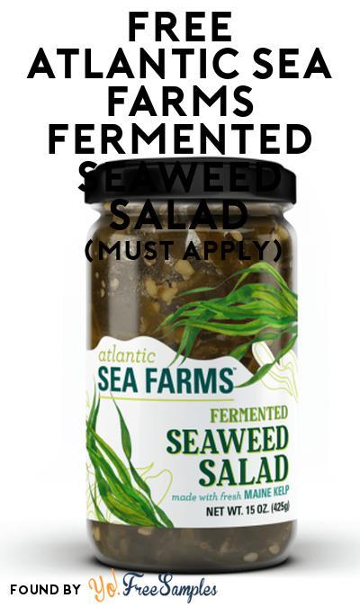 FREE Atlantic Sea Farms Fermented Seaweed Salad At Social Nature (Must Apply)