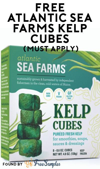 FREE Atlantic Sea Farms Kelp Cubes At Social Nature (Must Apply)