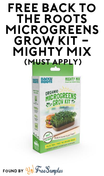 FREE Back to the Roots Microgreens Grow Kit – Mighty Mix At Social Nature (Must Apply)