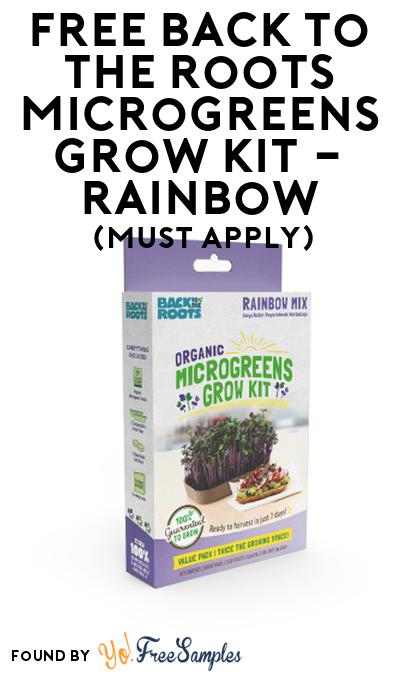 FREE Back to the Roots Microgreens Grow Kit – Rainbow At Social Nature (Must Apply)
