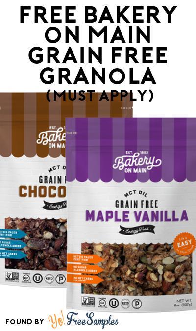 FREE Bakery on Main Grain Free Granola At Social Nature (Must Apply)