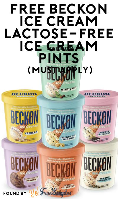 FREE Beckon Ice Cream Lactose-Free Ice Cream Pints At Social Nature (Must Apply)