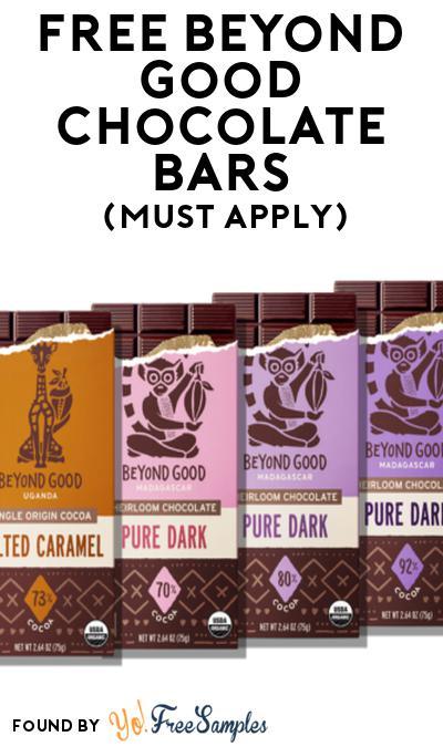 FREE Beyond Good Chocolate Bars At Social Nature (Must Apply)