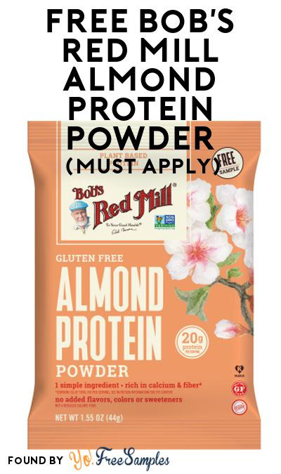 FREE Bob's Red Mill Almond Protein Powder At Social Nature (Must Apply)
