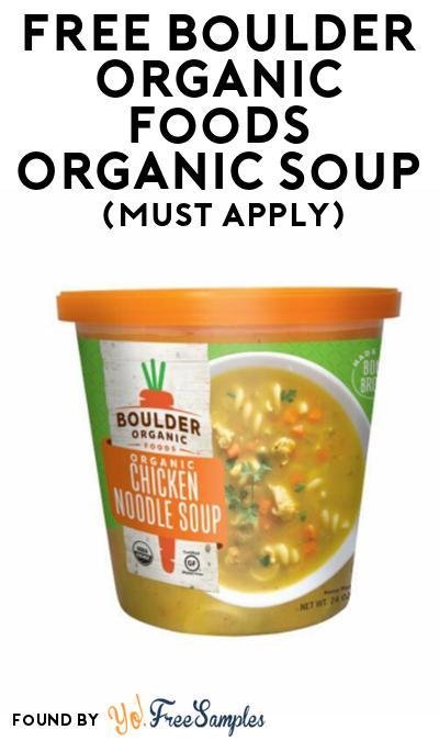 FREE Boulder Organic Foods Organic Soup At Social Nature (Must Apply)
