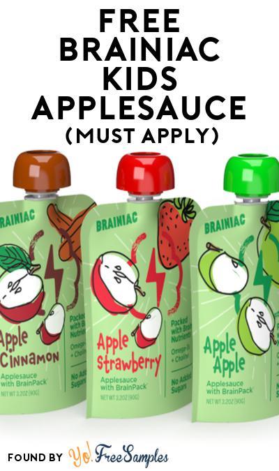 FREE Brainiac Kids Applesauce At Social Nature (Must Apply)