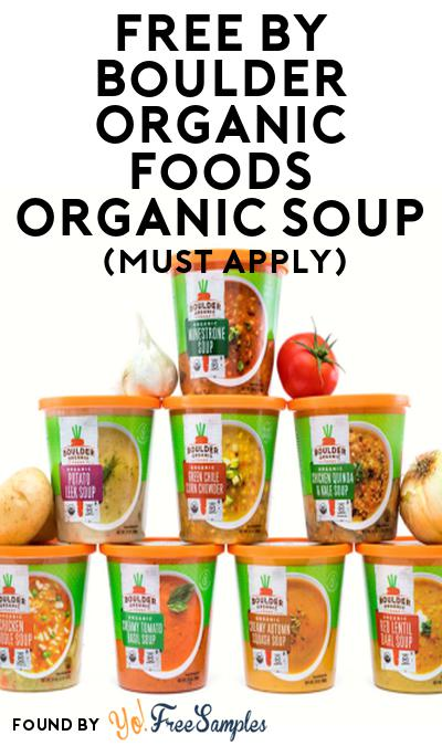 FREE Boulder Organic Foods Organic Soup At Social Nature (Must Apply)