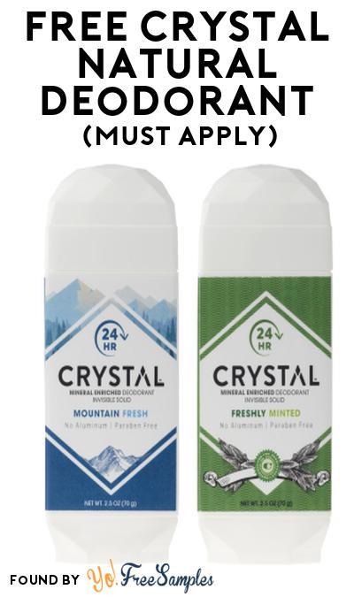 FREE CRYSTAL Natural Deodorant At Social Nature (Must Apply)