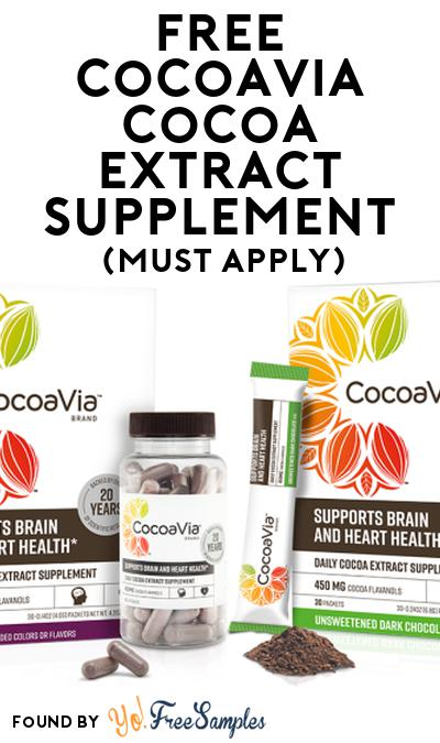 FREE CocoaVia Cocoa Extract Supplement At Social Nature (Must Apply)