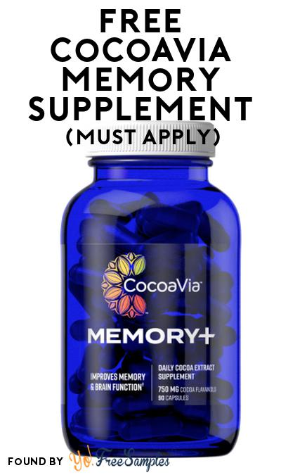FREE CocoaVia Memory Supplement At Social Nature (Must Apply)