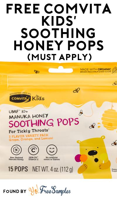 FREE Comvita Kids' Soothing Honey Pops At Social Nature (Must Apply)
