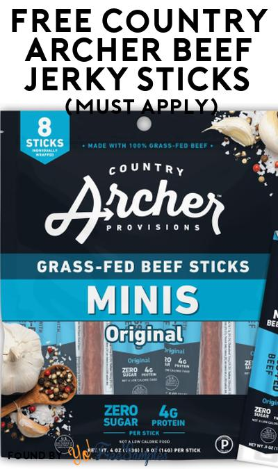 FREE Country Archer Beef Jerky Sticks At Social Nature (Must Apply)