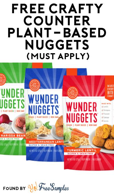 FREE Crafty Counter Plant-Based Nuggets At Social Nature (Must Apply)