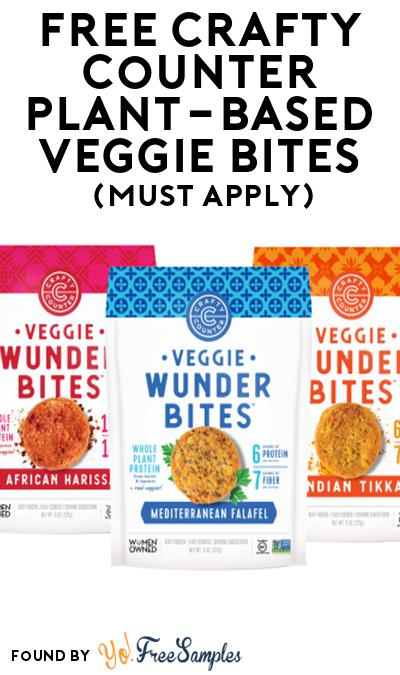 FREE Crafty Counter Plant-Based Veggie Bites At Social Nature (Must Apply)
