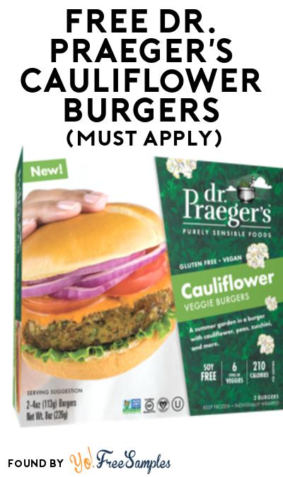FREE Dr. Praeger's Cauliflower Burgers At Social Nature (Must Apply)