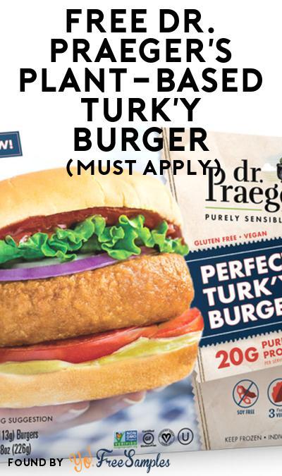 FREE Dr. Praeger's Plant-Based Turk'y Burger At Social Nature (Must Apply)