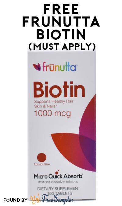 FREE Frunutta Biotin At Social Nature (Must Apply)