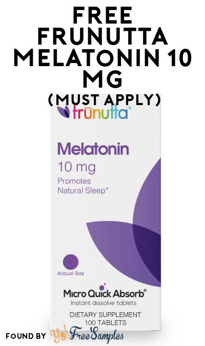 Nearly FREE Frunutta Melatonin At Social Nature (Must Apply + $4.99 Shipping)