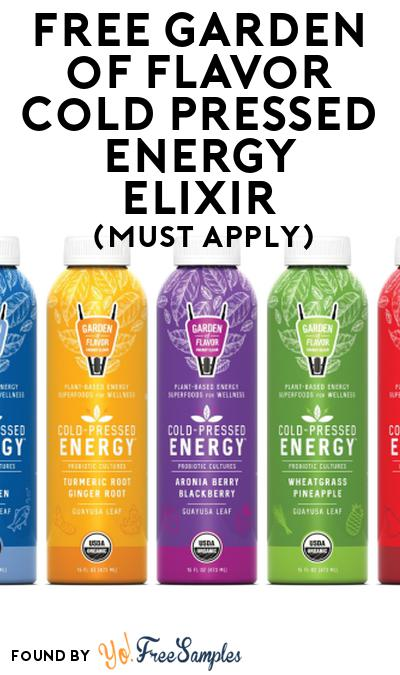 FREE Garden of Flavor Cold Pressed Energy Elixir At Social Nature (Must Apply)