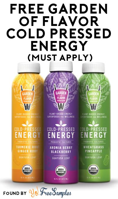 FREE Garden of Flavor Cold Pressed Energy At Social Nature (Must Apply)