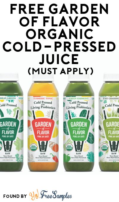 FREE Garden of Flavor Organic Cold-Pressed Juice At Social Nature (Must Apply)