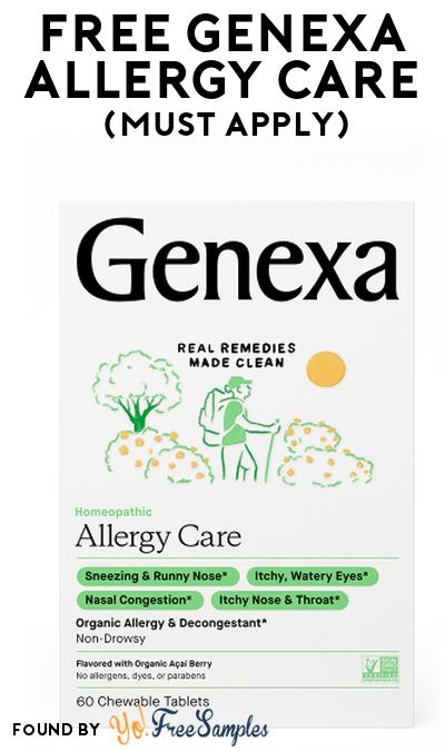 FREE Genexa Allergy Care At Social Nature (Must Apply)