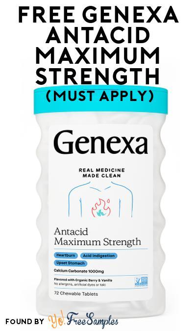 FREE Genexa Antacid Maximum Strength At Social Nature (Must Apply)