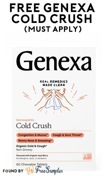 FREE Genexa Cold Crush At Social Nature (Must Apply)