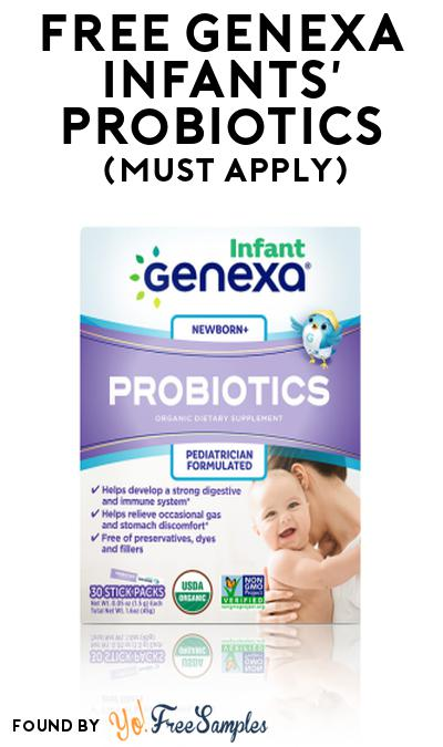 FREE Genexa Infants' Probiotics At Social Nature (Must Apply)