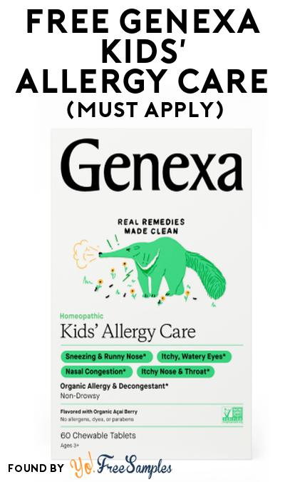FREE Genexa Kids' Allergy Care At Social Nature (Must Apply)