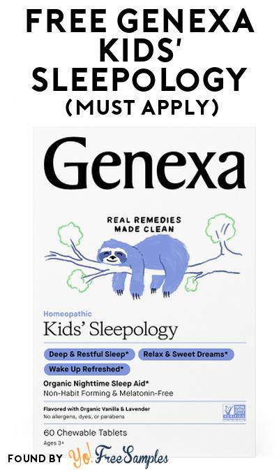 FREE Genexa Kids' Sleepology At Social Nature (Must Apply)