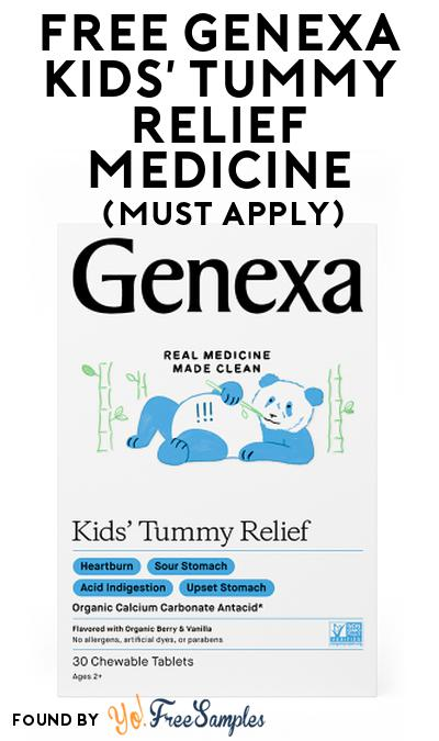 FREE Genexa Kids' Tummy Relief Medicine At Social Nature (Must Apply)