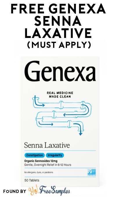 FREE Genexa Senna Laxative At Social Nature (Must Apply)