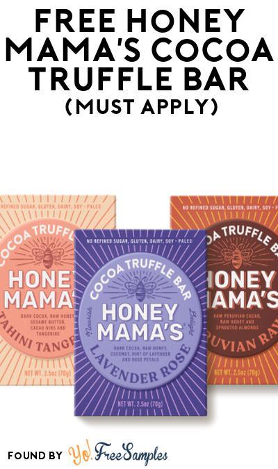 FREE Honey Mama's Cocoa Truffle Bar At Social Nature (Must Apply)
