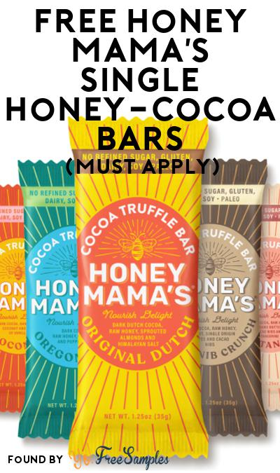 FREE Honey Mama's Single Honey-Cocoa Bars At Social Nature (Must Apply)