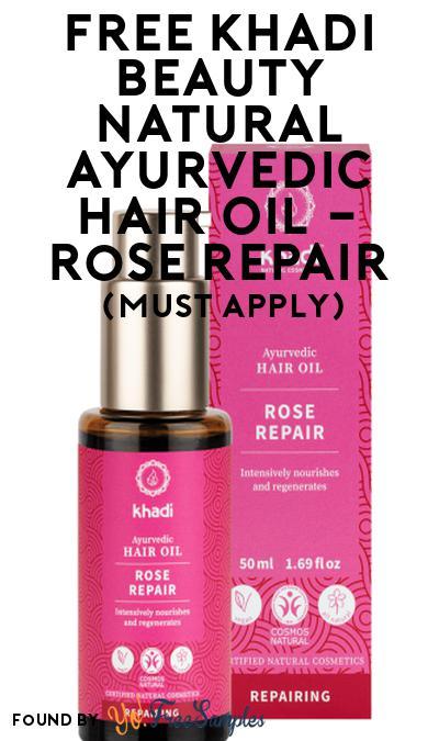 FREE Khadi Beauty Natural Ayurvedic Hair Oil – Rose Repair At Social Nature (Must Apply)