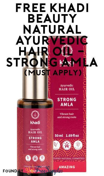 FREE Khadi Beauty Natural Ayurvedic Hair Oil – Strong Amla At Social Nature (Must Apply)
