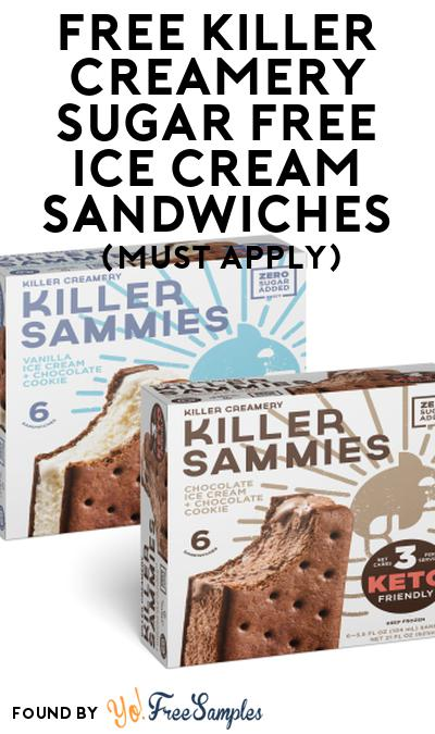 FREE Killer Creamery Sugar Free Ice Cream Sandwiches At Social Nature (Must Apply)