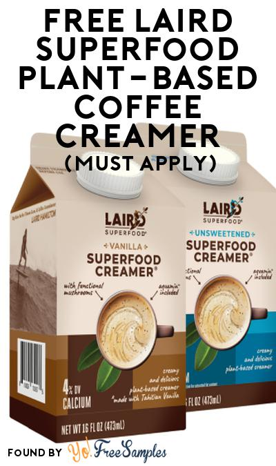 FREE Laird SuperFood Plant-Based Coffee Creamer At Social Nature (Must Apply)