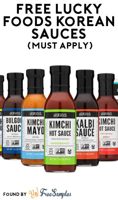 FREE Lucky Foods Korean Sauces At Social Nature (Must Apply)