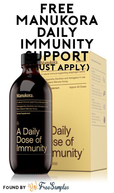 FREE Manukora Daily Immunity Support At Social Nature (Must Apply)