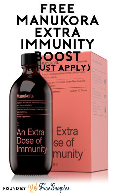 FREE Manukora Extra Immunity Boost At Social Nature (Must Apply)